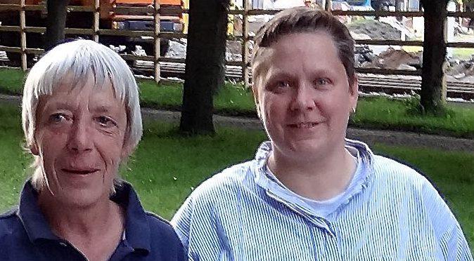 Platz 3 im B-Finale für Renate Bäßmann und Dagmar Fische (Foto aus der Fundgrube)